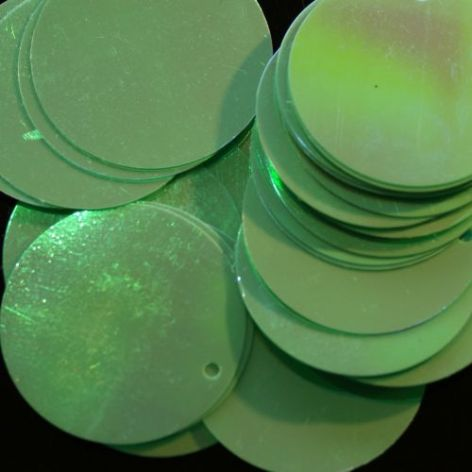 CLEARANCE Bulk Bag Extra Large 40mm Iridescent Mint Green Opaque Sequins x 500. SAVE £15